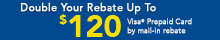 Double Your Rebate -Goodyear or Dunlop Mail-in Rebates Up to $120!