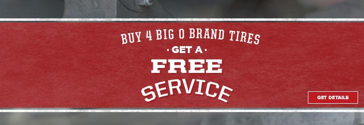 Regional Reno July - Buy 4 Big O Brand Tires Get Free Service