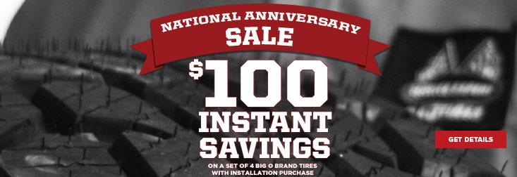Regional - August $100 Instant Savings