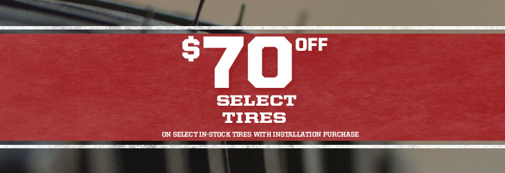 Regional - $70 Off Select Tires