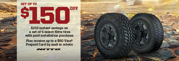 KY regional -Get up to $150 Off Select Nitto Tires!