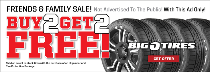 Friends & Family Buy 2 Get 2 FREE Sales Event!