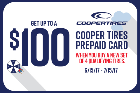 CooperTires-Getuptoa$100PrepaidCard!