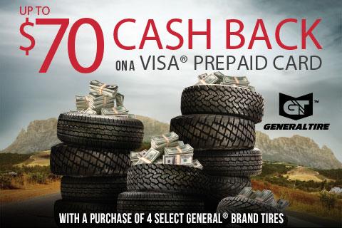 GeneralTire-upto$70Visa®PrepaidCard!
