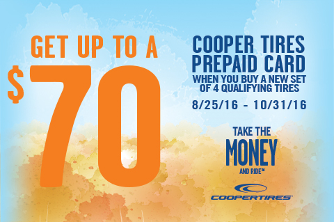 CooperTires-Getuptoa$70PrepaidCard!