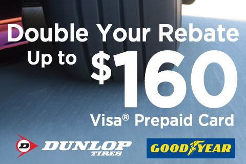 DoubleYourRebate-GoodyearorDunlopMail-inRebatesUpto$160!