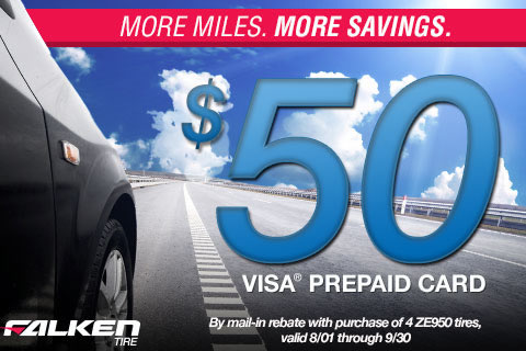 Get $50 Back on Falken Tires!