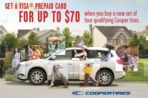 CooperTires-Upto$70Visa®PrepaidCard!