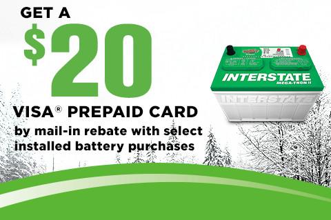 InterstateBatteryPromotion-Geta$20VisaPrepaidCard