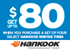 Hankook Winter Rebate