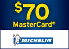 National Michelin BR-$70 Reward Card After Mail-in Submission!