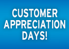 Customer Appreciation Days!
