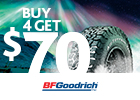 BFGoodrich - Get $70 via MasterCard® Reward Card