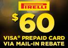 Pirelli $60 Rebate