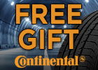 National Continental - buy any 4 continental tires and receive a free gift