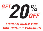 Get 20% Off Ride Control Products