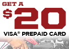 Get a $20 Big O Tires Visa Prepaid Card by Mail-in Rebate with Select Installed Battery Purchases!