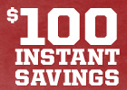 National Anniversary Sale!  $100 Instant Savings on Big O Brand Tires With Installation Purchase!