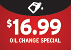 Full Service Oil & Filter Change - only $19.99!
