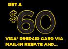 Pirelli $60 Visa Rebate