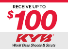 Save up to $20 on select KYB Shocks and Struts After Mail-in Rebate