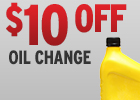 $10 Off Oil Change!