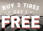 Buy 3 Tires, Get 1 Tire Free!