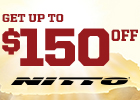 Get up to $150 Off Select Nitto Tires!