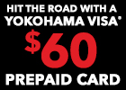 Get a $60 Mail-in Rebate on Select Yokohama Tires!