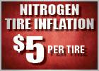 Nitrogen Tire Inflation - $5 Per Tire