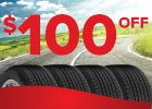 $100 Off 4 Big O Brand Tires!
