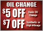 Oil Change Savings!