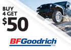 BFGoodrich - Get $50 via MasterCard® Reward Card
