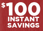 $100 Instant Savings on Big O Brand Tires With Installation Purchase!