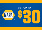 Get up to an $80 Visa prepaid card on Napa shocks and struts