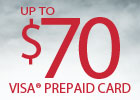 General Tire - up to $70 Visa® Prepaid Card!