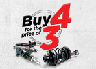 Buy 4 Shocks or Struts For the Price of 3!