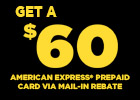 Pirelli - $60 Mail-in Rebate