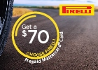 Pirelli Tires Offer $60 Off