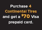 Continental -l Get a $70 Visa® Prepaid Card!
