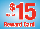 Up to $15 Reward Card When you Buy a Valvoline Premium Oil Change Today or $10 Reward Card for Valvoline Antifreeze Service!