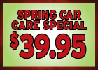 $39.95 Back to School Car Care Special