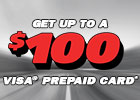 Get up to $100 Visa Prepaid Card on select shocks and struts