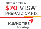 Kumho up to $70 Rebate