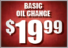 $19.99 Basic Oil Change!