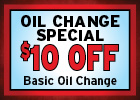 Oil Change Savings!