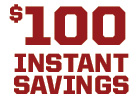 $100 Instant Savings on a Set of 4 Big O Brand Tires With Paid Installation Purchase
