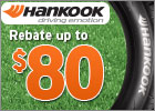 Hankook - Up to $80 Back via Mail-In Rebate!