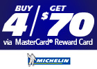 Michelin - Get $70 via MasterCard® Reward Card