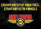 Save up to $100 on Mickey Thompson Tires and Wheels